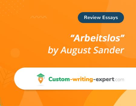 """Arbeitslos"" by August Sander Free Essay"