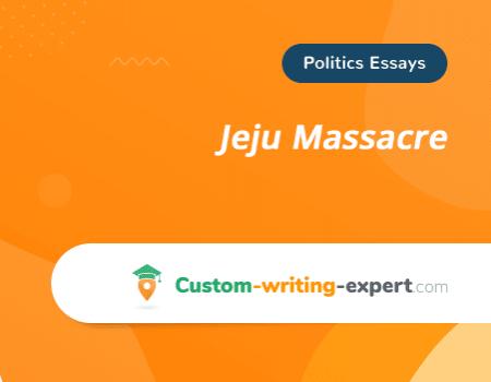 Jeju Massacre Free Essay