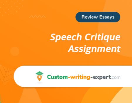 Speech Critique Assignment Free Essay